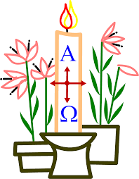 Easter Candle clip art